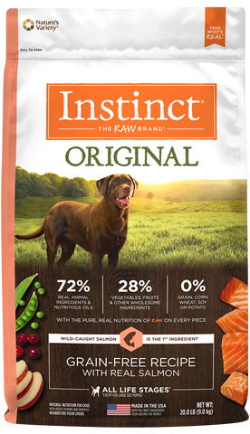 Nature's Variety Instinct Original Grain-Free Recipe with Real Salmon Dry Dog Food at NJPetSupply.com
