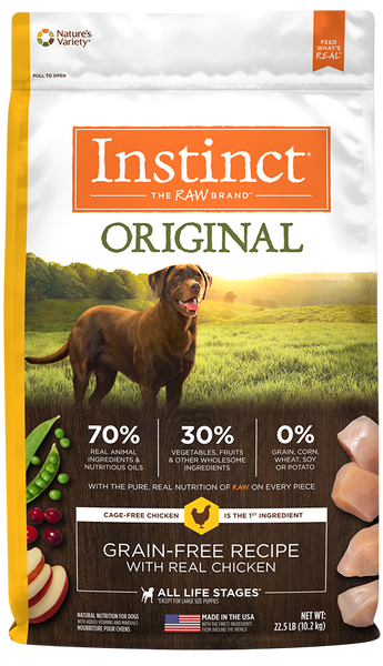 Nature's Variety Instinct Original Grain-Free Recipe with Real Chicken Dry Dog Food at NJPetSupply.com