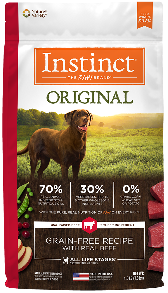 Nature's Variety Instinct Original Grain-Free Recipe with Real Beef Dry Dog Food 20-lb at NJPetSupply.com