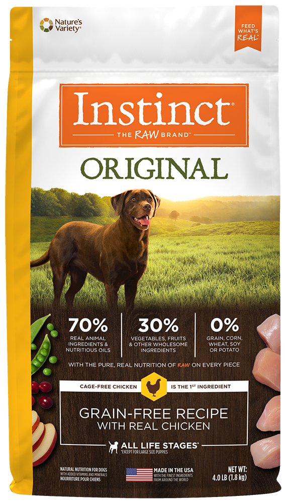 Nature's Variety Instinct Original Grain-Free Recipe with Real Chicken Dry Dog Food 4-lb at NJPetSupply.com