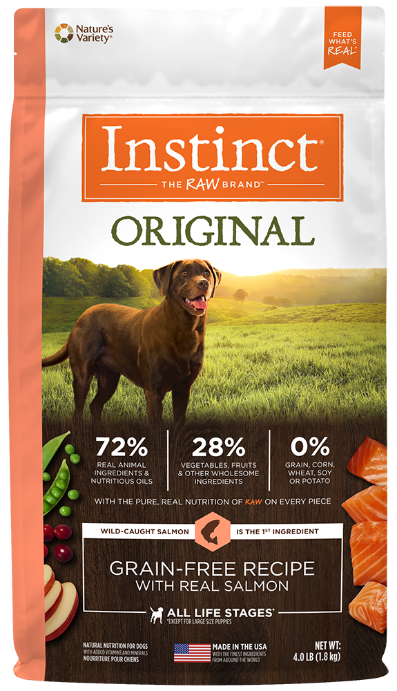 Nature's Variety Instinct Original Grain-Free Recipe with Real Salmon Dry Dog Food