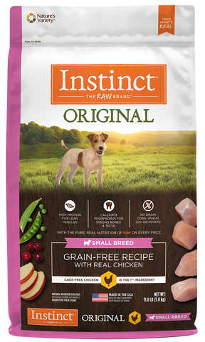 Nature's Variety Instinct Original Grain-Free Recipe with Real Chicken for Small Breed Dogs Dry Dog