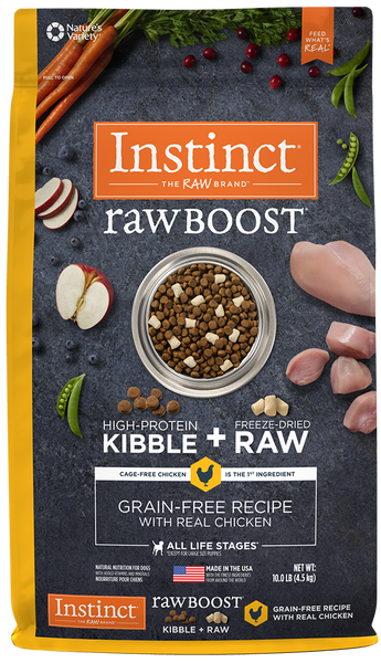 Nature's Variety Instinct Raw Boost Grain-Free Recipe with Real Chicken Dry Dog Food 4-lb at NJPetSupply.com