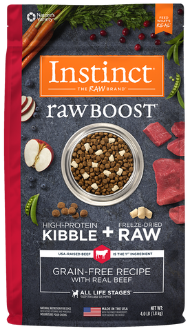 Nature's Variety Instinct Raw Boost Grain-Free Recipe with Real Beef Dry Dog Food