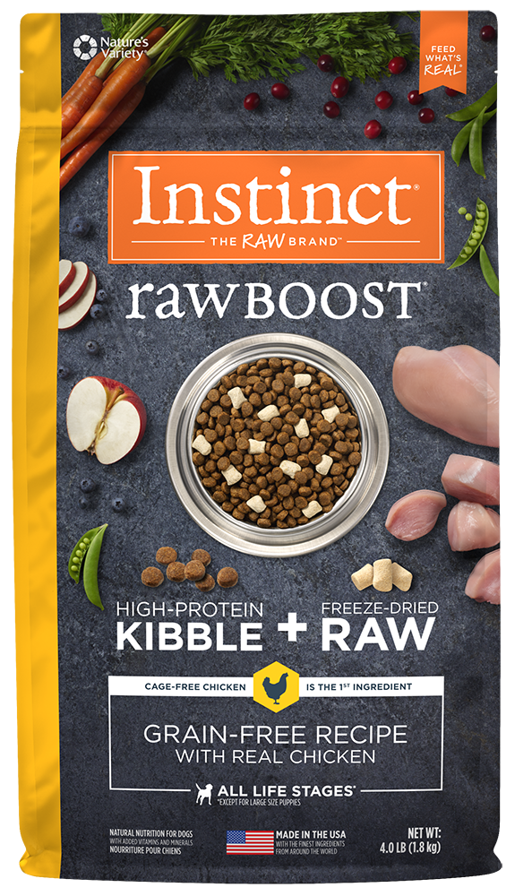 Nature's Variety Instinct Raw Boost Grain-Free Recipe with Real Chicken Dry Dog Food 10-lb at NJPetSupply.com