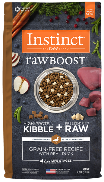 Nature's Variety Instinct Raw Boost Grain-Free Recipe with Real Duck Dry Dog Food