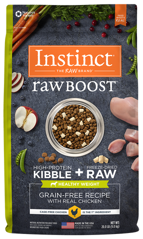 Nature's Variety Instinct Raw Boost Grain-Free Recipe with Real Chicken For Healthy Weight Dry Dog F