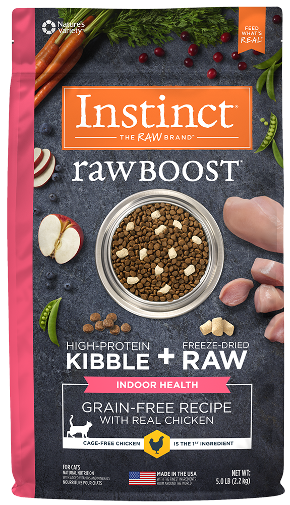 Nature's Variety Instinct Raw Boost Grain-Free Recipe with Real Chicken for Indoor Health Dry Cat Food at NJPetSupply.com