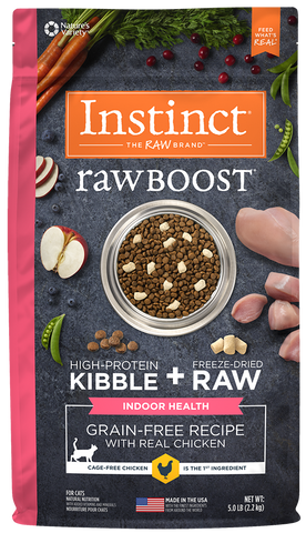 Nature's Variety Instinct Raw Boost Grain-Free Recipe with Real Chicken for Indoor Health Dry Cat Fo