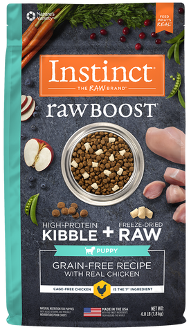 Nature's Variety Instinct Raw Boost Grain-Free Recipe with Real Chicken for Puppies Dry Dog Food