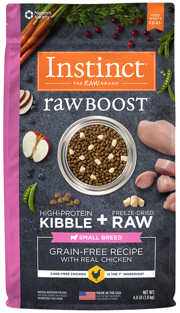 Nature's Variety Instinct Raw Boost Grain-Free Recipe with Real Chicken for Small Breed Dogs Dry Dog