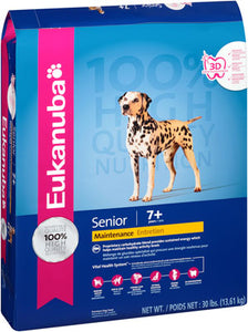Eukanuba Senior Maintenance Chicken Formula Dry Dog Food, 30-lb at NJPetSupply.com