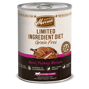 Merrick Limited Ingredient Diet - Real Turkey Recipe Canned Wet Dog Food at NJPetSupply.com