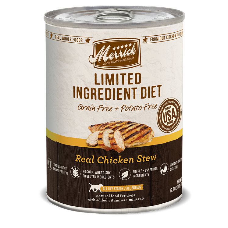 Merrick Limited Ingredient Diet Real Chicken Stew Canned Wet Dog Food at NJPetSupply.com