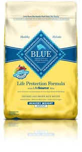 Blue Buffalo Life Protection Formula Healthy Weight Chicken & Brown Rice Dry Dog Food at NJPetSupply.com