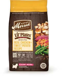 Merrick Lil' Plates Grain Free Real Chicken and Sweet Potatoes Recipe Dry Dog Food at NJPetSupply.com
