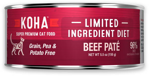 KOHA LID Grain-Free Beef Pate Wet Cat Food, 5.5-oz at NJPetSupply.com