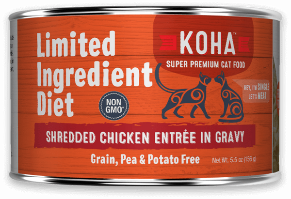 KOHA LID Grain-Free Shredded Chicken Entree Wet Cat Food 2.8-oz Pouch at NJPetSupply.com