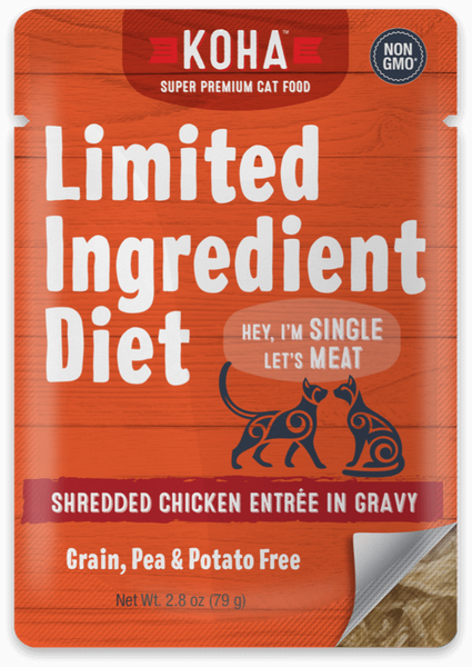 KOHA LID Grain-Free Shredded Chicken Entree Wet Cat Food 5.5-oz Can at NJPetSupply.com