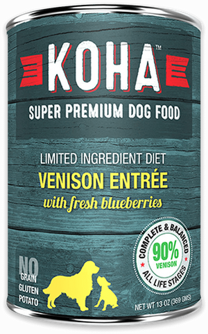 KOHA LID Grain-Free 90% Venison Entree Wet Dog Food at NJPetSupply.com