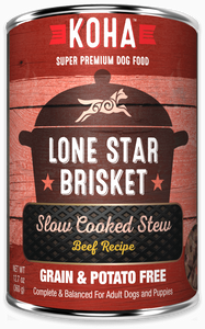 KOHA Grain-Free Lone Star Brisket Wet Dog Food at NJPetSupply.com