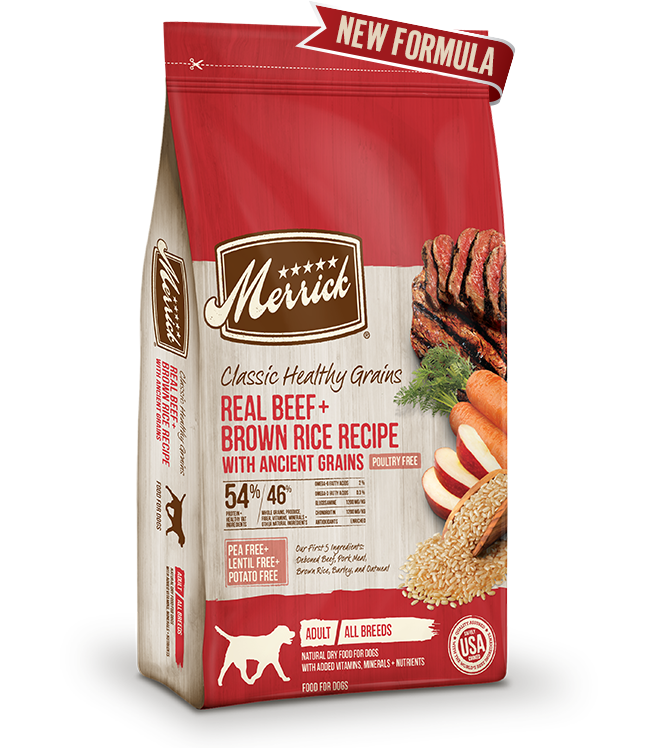 Merrick Classic Real Beef and Brown Rice Recipe with Ancient Grains Dry Dog Food