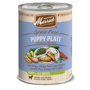 Merrick Puppy Plate Canned Wet Dog Food at NJPetSupply.com