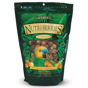 Lafeber's Gourmet Tropical Fruit Nutri-Berries for Pet Bird Parrot 3-lb Bag at NJPetSupply.com