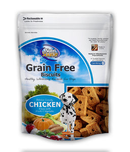 Nutrisource Grain Free 14oz. Dog Biscuit Fish Treats at NJPetSupply.com