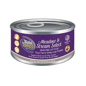 Nutrisource Grain Free Meadow and Stream Canned Wet Cat Food at NJPetSupply.com