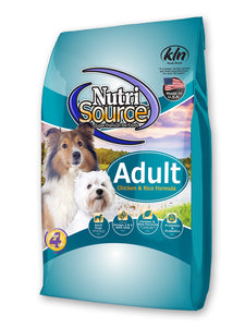 Nutrisource Chicken & Rice Dry Dog Food at NJPetSupply.com
