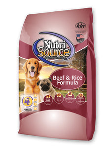 Nutrisource Beef & Rice Dry Dog Food 30-lb Bag at NJPetSupply.com
