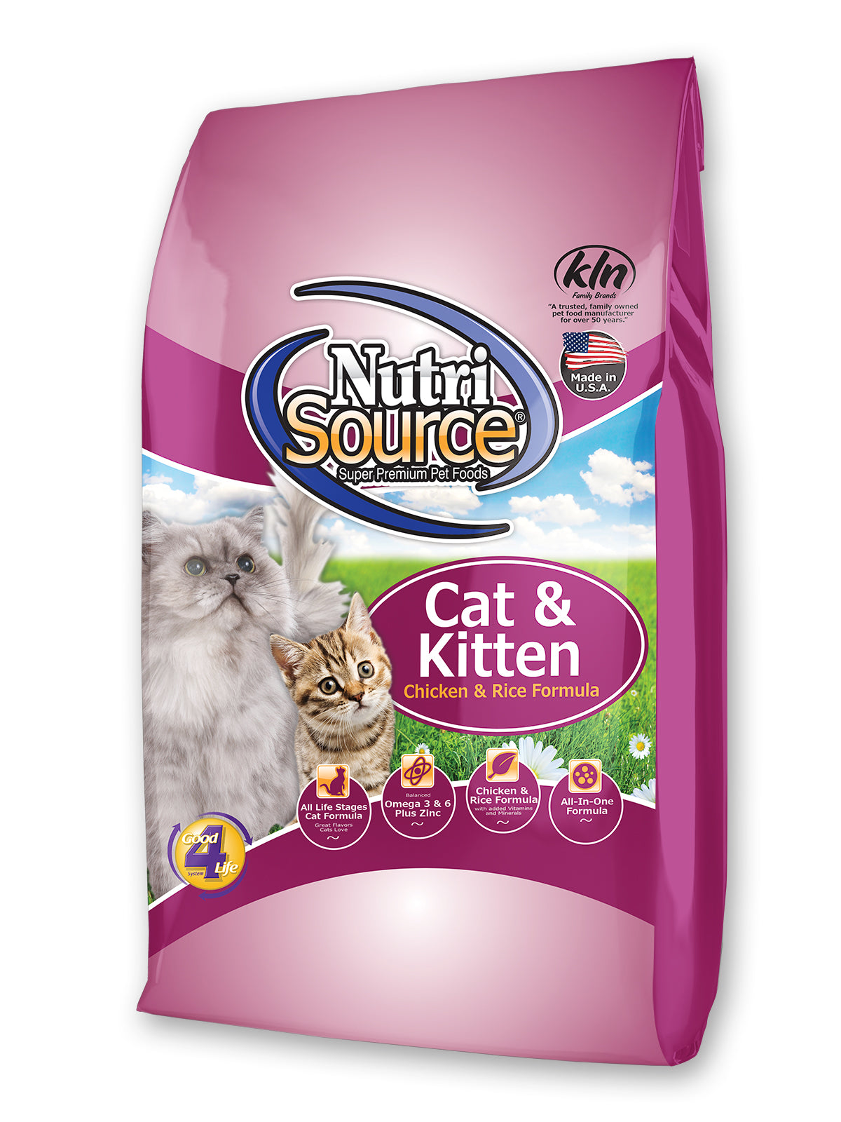 Nutrisource Chicken & Rice Dry Cat & Kitten Food at NJPetSupply.com