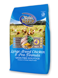 Nutrisource Grain Free Large Breed Chicken & Pea Dry Dog Food at NJPetSupply.com