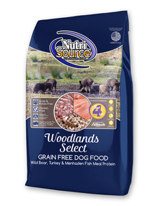 Nutrisource Grain Free Woodland Select Boar & Turkey Dry Dog Food at NJPetSupply.com