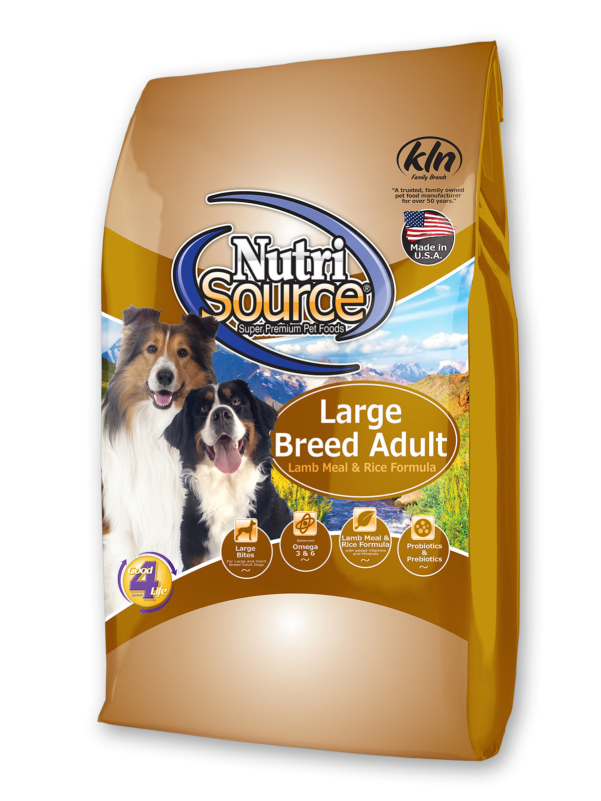 Nutrisource Large Breed Lamb and Rice Dry Dog Food at NJPetSupply.com