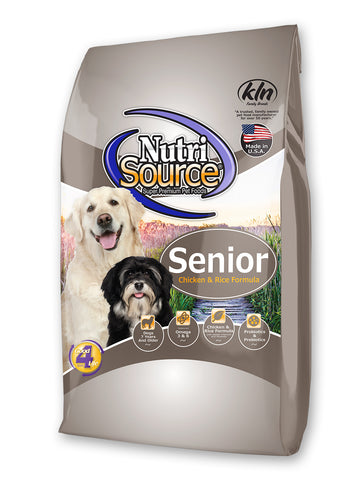 Nutrisource Senior Chicken & Rice Dry Dog Food at NJPetSupply.com