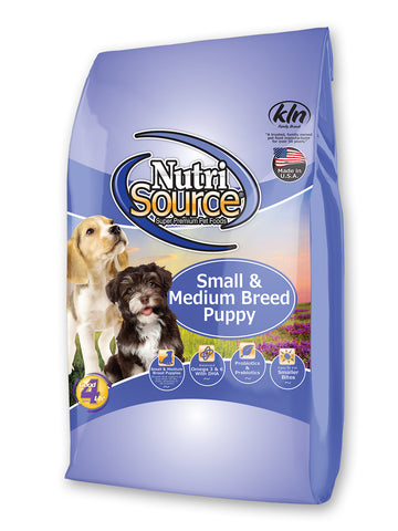 Nutrisource Puppy Small and Medium Breed Dry Dog Food at NJPetSupply.com