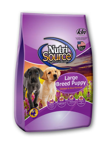 Nutrisource Puppy Large Breed Dry Dog Food at NJPetSupply.com