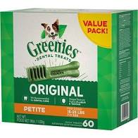 Greenies Dental Chews - Petite (for dogs 15 - 25 lbs)