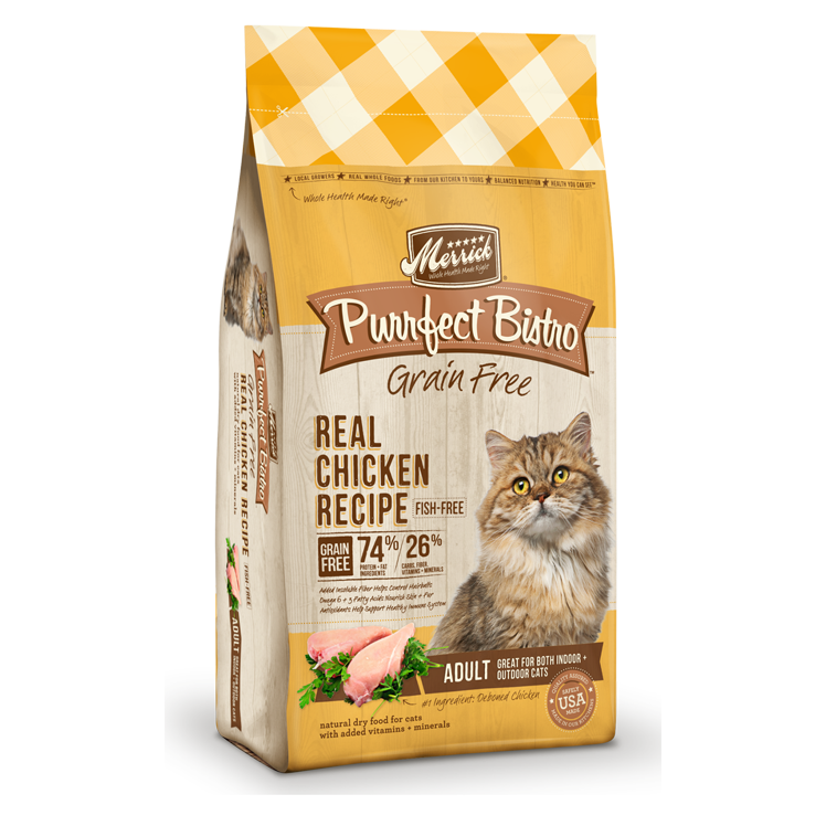 Merrick Purrfect Bistro Grain Free Real Chicken Recipe Adult Dry Cat Food at NJPetSupply.com