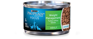 Pro Plan Adult Weight Management Turkey & Rice Canned Cat Food