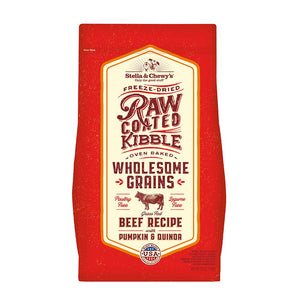 Stella & Chewy's Raw Coated Kibble with Grains Beef Recipe with Pumpkin & Quinoa Dry Dog Food