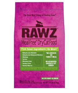 RAWZ Meal Free Dehydrated Chicken and Turkey Dry Cat Food 1-lb at NJPetSupply.com