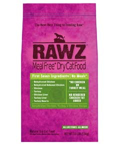 RAWZ Meal Free Dehydrated Chicken and Turkey Dry Cat Food 3-lb at NJPetSupply.com