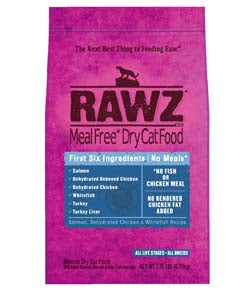 RAWZ Meal Free Salmon, Dehydrated Chicken, and Whitefish Dry Cat Food 1-lb at NJPetSupply.com
