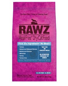 RAWZ Meal Free Salmon, Dehydrated Chicken, and Whitefish Dry Cat Food 3-lb at NJPetSupply.com