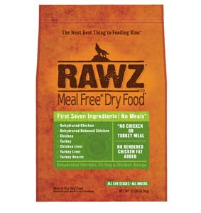 RAWZ Meal Free Dehydrated Chicken, Turkey, and Chicken Dry Dog Food 3-lb at NJPetSupply.com
