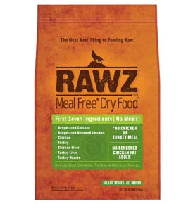 RAWZ Meal Free Dehydrated Chicken, Turkey, and Chicken Dry Dog Food 10-lb at NJPetSupply.com