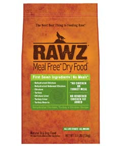 RAWZ Meal Free Dehydrated Chicken, Turkey, and Chicken Dry Dog Food 20-lb at NJPetSupply.com
